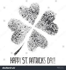 shamrock stenciled four leaf irish clover stock illustration