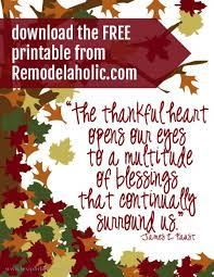 remodelaholic thanksgiving be thankful banner printable