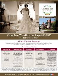 Wedding Packages Prices Lessing U0027s Chateau At Coindre Hall Long Island U0027s Midieval Style