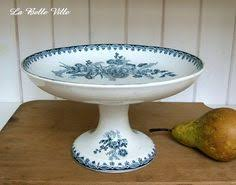 vintage french cake stand gien pedestal serving dish antique