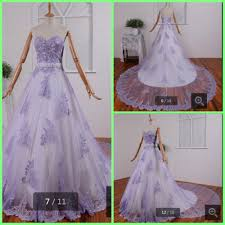 purple and white lace wedding dress promotion shop for promotional