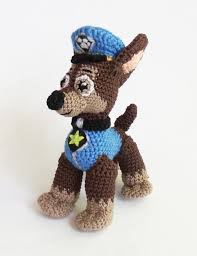 kids christmas gift chase paw patrol crochet puppy amigurumi