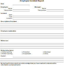 employee incident report templates free incident report template free business template