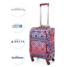 united airline carry on aerolite 22x14x9 u201d carry on max lightweight spinner suitcase multi