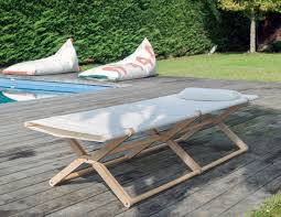 coy beach folding daybed of upcycled sail