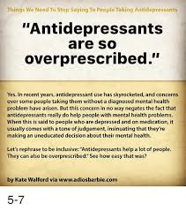 things we need to stop saying to people taking antidepressants
