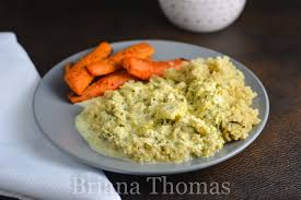 creamy chicken gravy over seasoned quinoa briana thomas