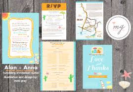alan u0026 anna u0027s wedding invitation suite one charming day