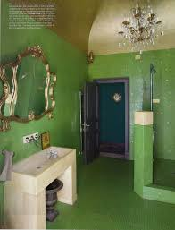 Seafoam Green Home Decor Floor To Ceiling Green Mosaics Gold Painted Vaulted Ceiling Gold