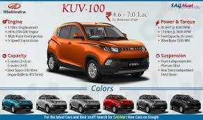 indian car on road mahindra kuv 100 price features and more infographic sagmart