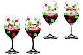 christmas glasses 4 christmas wine glass decals set of 4 vinyl decals diy