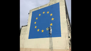 French Flag Banner Banksy Brexit Mural Unveiled On Day Of French Vote Cnn Style