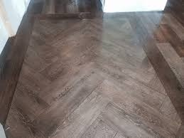 Porcelain Tile Entryway Foyer Entry Installed With Wood Look Porcelain Tile With