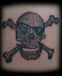 7 pirate skull and crossbones tattoo