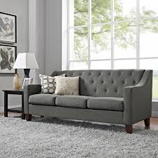 Tufted Sofa With Chaise by Dorel Living Threshold Tufted Sofa Dunes Gray