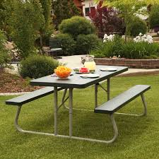 lifetime products 8 ft folding putty picnic table hayneedle best