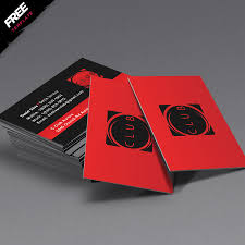 red and black free business card template