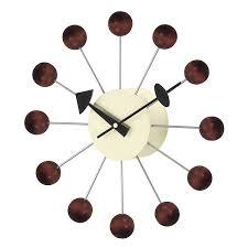 amazon com telechron atomic ball wall clock black silver home