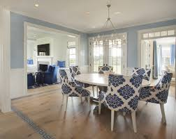 Category Movie Houses Home Bunch  Interior Design Ideas - Blue and white dining room