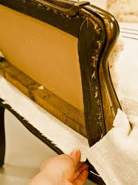 How To Upholster A Dining Room Chair How To Reupholster An Arm Chair Hgtv
