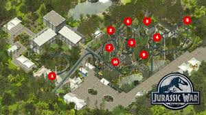 Jurassic World Map by Jurassic War Roller Coaster Tycoon 3 Floorless Coaster Coaster101