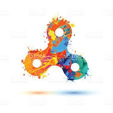 hand spinner toy vector splash paint stock vector art 826806420