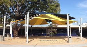 Large Awning Freestanding Courtyard Patio Awning With Large Clearspan