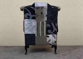 Chesterfield Patchwork Sofa by The Kent Chesterfield Wing Chair In Patchwork Fabric