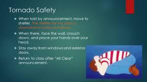 sms safety procedures tornado fire lockdown tornado safety