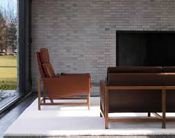 exposed wood frame sofa bassamfellows cb 510 high back lounge chair and cb 53 low back