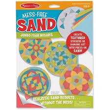 doug mess free sand jumbo foam stickers mosaics