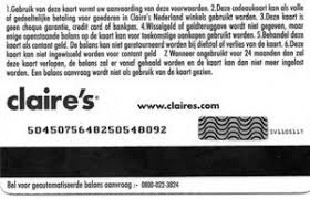 claires gift card gift card s voor unicef s netherlands s