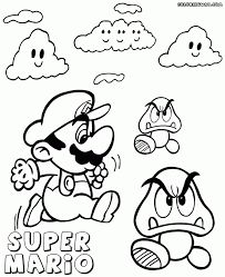 coloring download goomba coloring pages mario goomba coloring in