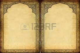 islamic ornaments and decorations frame against grunge background