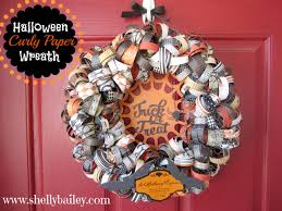 How To Make Halloween Mesh Wreaths by Halloween Home Decor Curly Paper Wreath Youtube