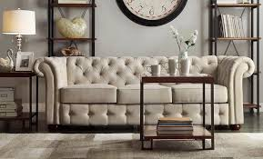 Sofas Chesterfield Style Classic Scroll Arm Button Tufted Chesterfield Style