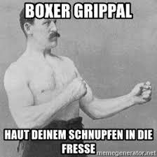 Old Boxer Meme - boxer grippal haut deinem schnupfen in die fresse old boxing guy