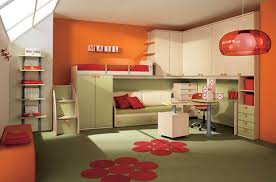 bright red paint for walls bright orange wall paint green cabinet and storage green rug with