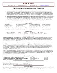 Resume Sample Executive Assistant by Human Resources Hr Resume Samples Vinodomia