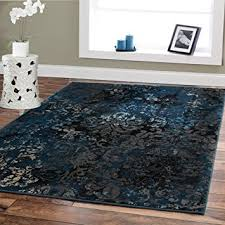 Blue Brown Area Rugs Premium Contemporary Rugs For Living Room Luxury 5x8