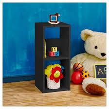 2 Shelf Black Bookcase Way Basics 2 Shelf Duo Narrow Bookcase Eco Storage Shelf Black