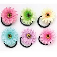 hair elastic dasha designs 2238 fabric flower pony holder hair elastic