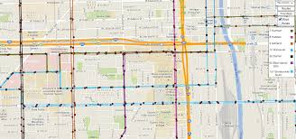 Chicago Transit Authority Map by Active Transportation Office Of Sustainability