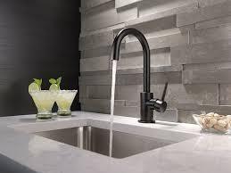 delta faucet 1959lf bl trinsic single handle bar prep faucet