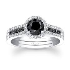 black diamond wedding set barkev s black diamond bridal set bc 7875sbkw