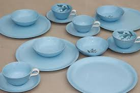 homer laughlin vintage skytone blue vintage homer laughlin china dinnerware plates
