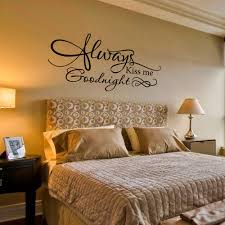 wall decal by grabersgraphics 32 00 home decor pinterest wall decal always kiss me goodnight romantic love bedroom vinyl wall decal