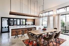 kitchen island perth perth costco area rugs dining room contemporary with waterfall