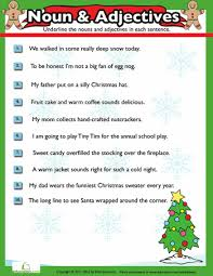 christmas nouns and adjectives 7 worksheets homeschool and