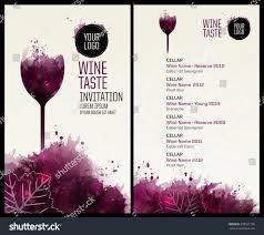 template list wine tasting illustration glass imagem vetorial de